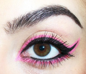 Used a Stargazer UV Lip & Eye Pencil for the pink lining.
