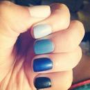 matte ombré blue