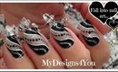 Super Easy New Year's Nail Art | Black And Silver Party Nails ♥