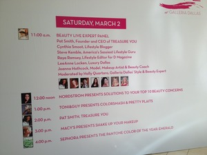 List of events that took place Saturday for Beauty Live