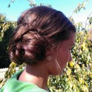 elegant homecoming/prom hair