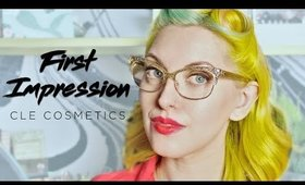 FIRST IMPRESSIONS | CLE COSMETICS