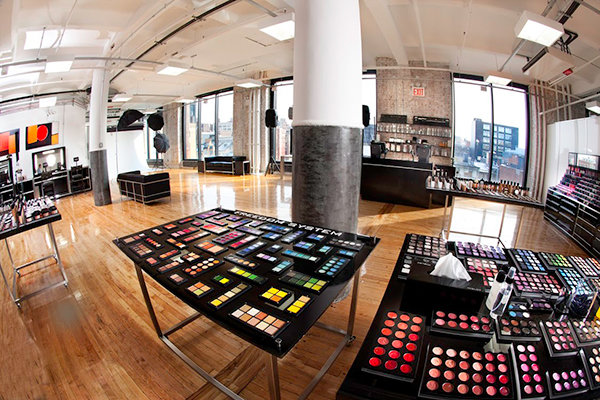 The Artist Lounge at Inglot's Chelsea Market store in NYC