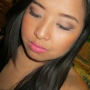 Pink Lip and Soft Brown Eye shadow