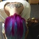 Magenta on Turquoise