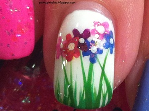 flowers nail art 147