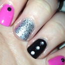 Pink, Black and Silver glitter!
