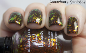 Kleancolor Chunky Holo Black  http://samariums-swatches.blogspot.com/2011/11/layering-fun-with-kleancolor-chunky.html