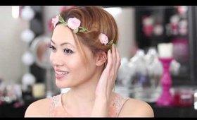 Hair Tutorial: Wedding Flower Halo