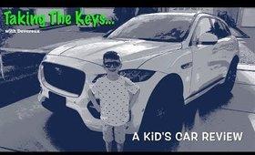 Taking The Keys Episode 3   Jaguar F-Pace 3.5T R-Sport   A Kid's Car Review