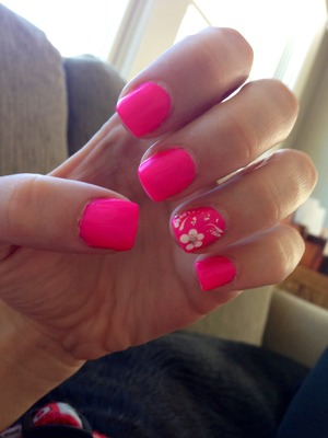 I did these a whole ago, but I think it's a nice spring or summer look! It's a china glaze color, not sure of the name though.