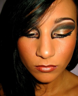 avant garde look based off of a MAC face chart