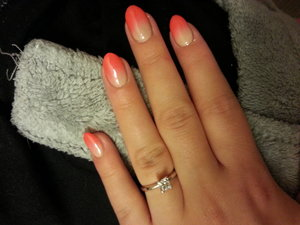 Gradient is my favorite, and the easiest for me to do. I love pairing a bright with nude.