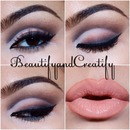 Cut crease with smudged liner and nude lips