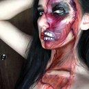Ripped Facial Muscles Makeup