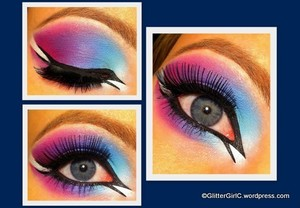 Colourful Arabic eye :)