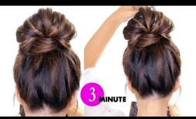 3-Minute BUBBLE Braid BUN Hairstyle ★ Easy Holiday Hairstyles