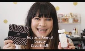 July and August Beauty Favorites!!!  So much good stuff!!!
