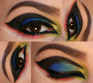 Got a sudden urge to use the palette a couple of days ago and this came out. Hope you guys like it! <3   Colors Used: -THRASH -FREAK -GONZO -CHAOS -SAVAGE -SLOW BURN  Also used: Black gel liner from NYX Cosmetics