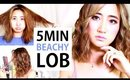 How To Style A Lob | 5 Minute Back To School Curls