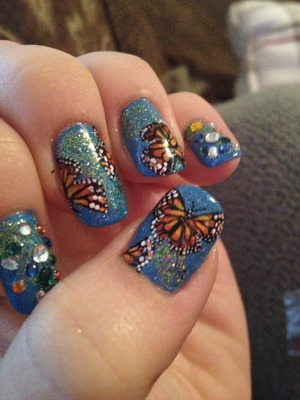Monarch nails inspired by Robin Moses