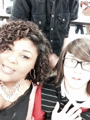 Us in class. He bombed my picture XP