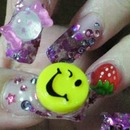 Decoration colorful nail