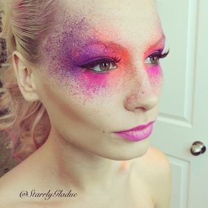 I mixed matte pigments with MAC Fix+ spray, and spritzed it on with a brow bristle brush. Professional photos coming soon <3