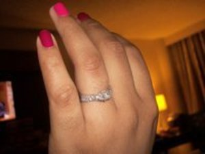 Showing off my engagement ring!