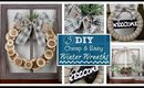 DIY 3 CHEAP and EASY Winter Wreaths | Winter Decor 2020