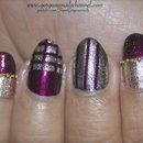 Fun Gold Stripes Nail Art