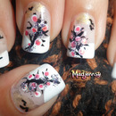 Blooming Trees Nail Art
