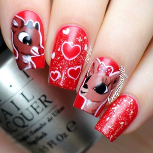 More info & photos here: http://www.lacquerstyle.com/2013/12/reindeer-love-rudolph-clarice.html