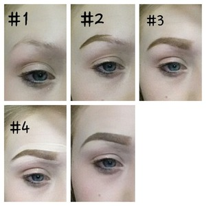 my step by step for eyebrows