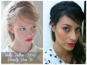 Hair and makeup inspired by Holly Fulton Spring 2013 collection