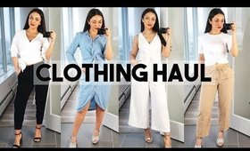 SPRING TRY ON CLOTHING HAUL! Aritzia, Zara, Adidas - TrinaDuhra