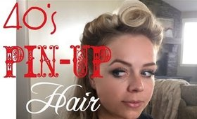 40's PIN UP RETRO Hair Tutorial