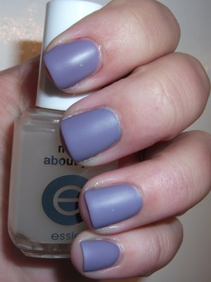 OPI Planks A Lot with Essie Matte About You top coat, aka: lavender frosted glass.