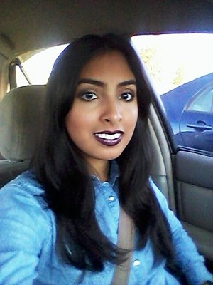 I used Jordana's lipliner in cabernet with mac rihanna viva glam II on top.
