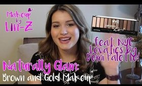 NYC Lovatics by Demi Palette Makeup Tutorial: Naturally Glam Brown and Gold Eye!