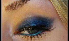New Year's Eve Blue Cat Eye Makeup