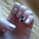 #Gold and puzzle nails ♥