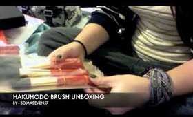 Hakuhodo 8pc. Vermillion S100 brush set unboxing!