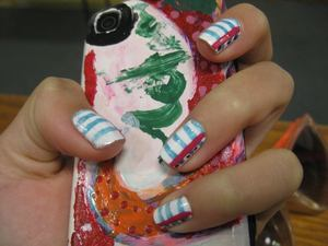 Notebook Paper Nails Tutorial: Back to School Nails Design - by cutepolish on  Youtube