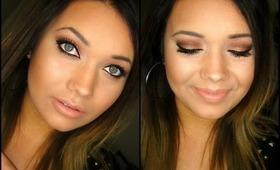 Warm Brown Glowy Makeup