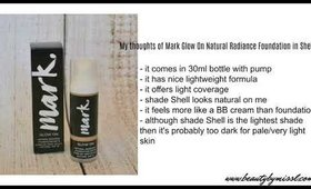 Avon mark Glow On Natural Radiance Foundation SPF15 Review