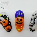 DIY Halloween nail art with Korean pumpkins