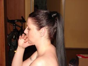 my mom :) she has beautiful hair..