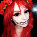 Halloween Fairy using Black Sclera Lenses- Sabertooth