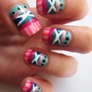 Blue and Pink Tribal